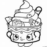 Strawberry Coloring Pages Shoppie Sundae sketch template