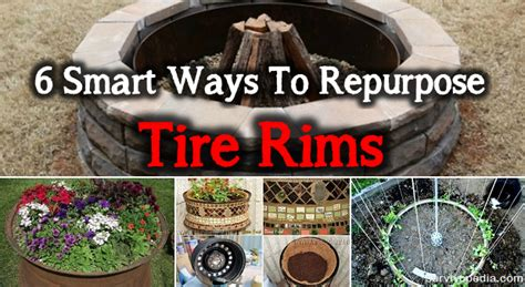 smart ways  repurpose tire rims survivopedia