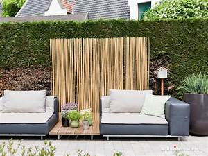 bambus sichtschutz fur balkon buro und terrasse auf With französischer balkon mit bambus sichtschutz garten
