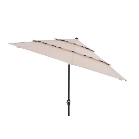 shop simply shade solid wheat market patio umbrella