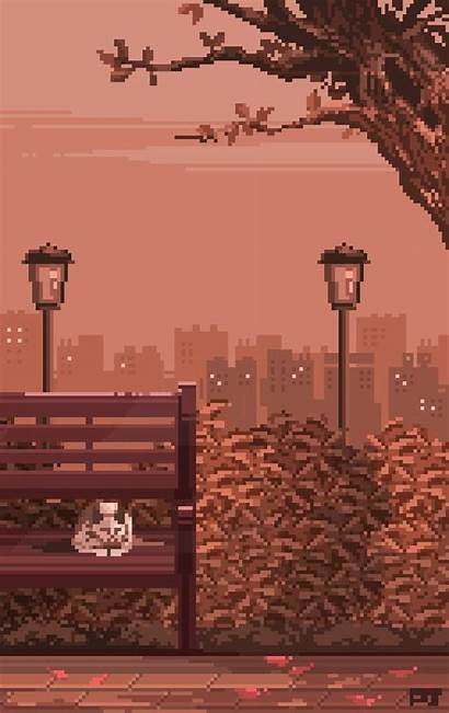 Pixel Rain Wallpapers Aesthetic Background Backgrounds 8bit