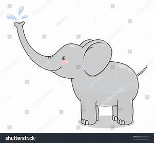 Elephant Splashing Water Clipart ClipartXtras