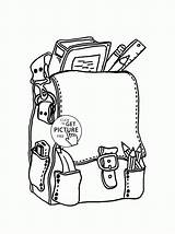 Coloring Supplies Pages Backpack Printable Worksheets Worksheet Printables Sheets Wuppsy Colouring Verbs Homeschool Obligation Prohibition Permission Coupons Modal Labels Phenomenal sketch template