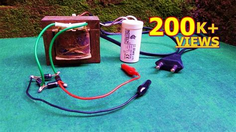 battery chargerusing fan capacitor youtube