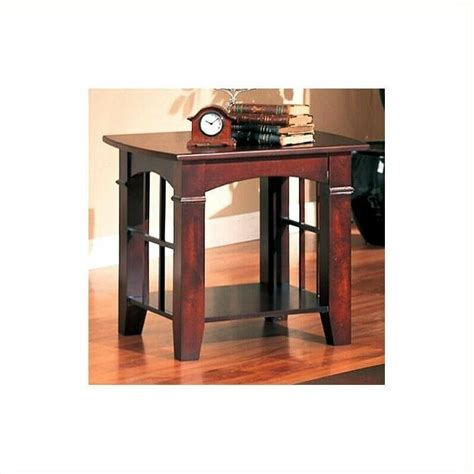 table living room furniture square  cherry