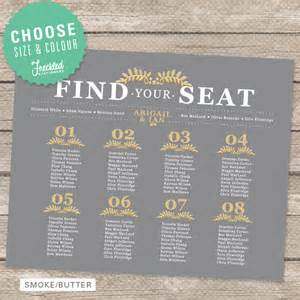 wedding seating chart printable pdf by freckledstationery - Wedding Reception Seating