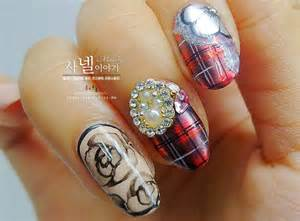 Korean nail art on nails japanese and