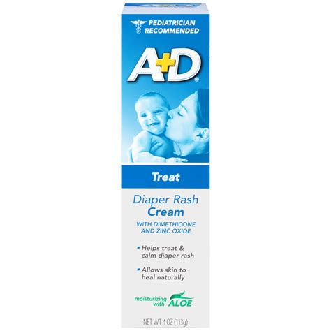 Ad Diaper Rash Cream With Aloe 4 Oz 113 G Shop Your