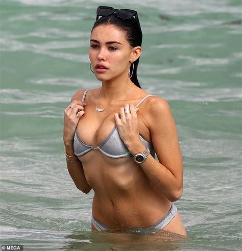 madison beer  cheeky   beach  tiny bikini