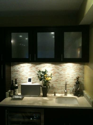 tile backsplash  wet bar area    side  main