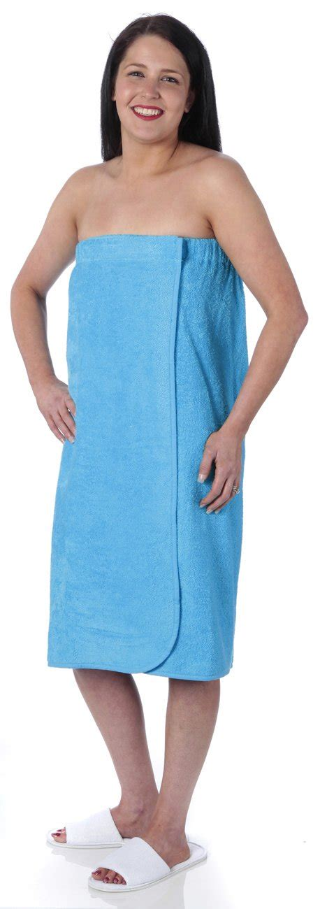 turquoise bathroom set terry towel sarong towel wrap with elasticated