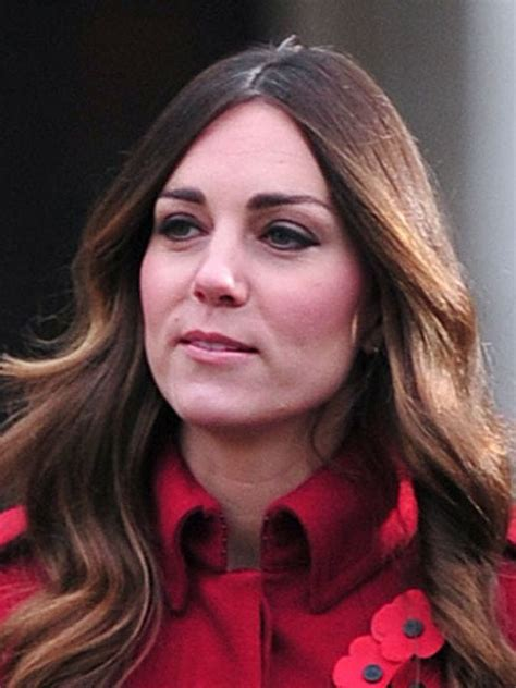 kate middletons gray hair shows  london