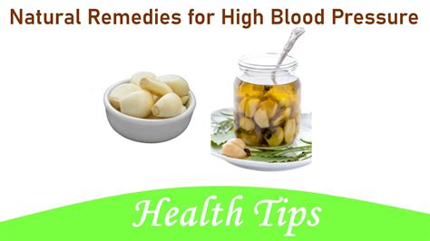 Natural Remedies for High Blood Pressure - YouTube
