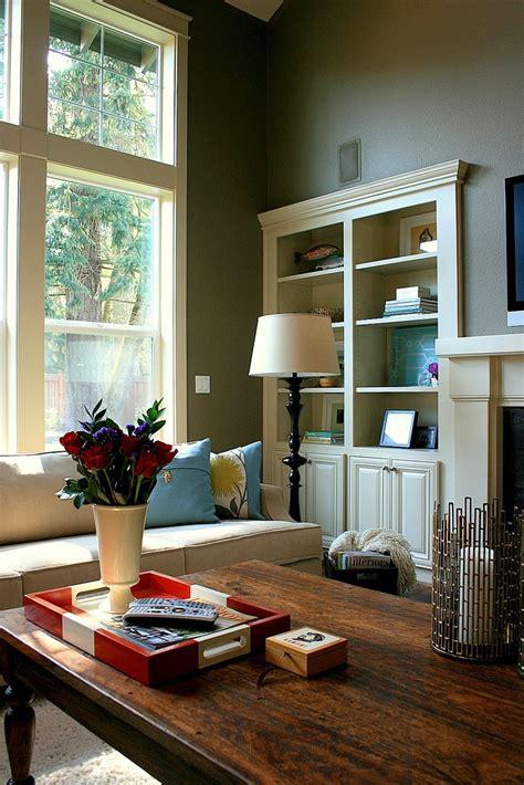 room living warm schemes rooms cozy narrow built colors decor paint colours beals janell furniture colour traditional shelves tour space