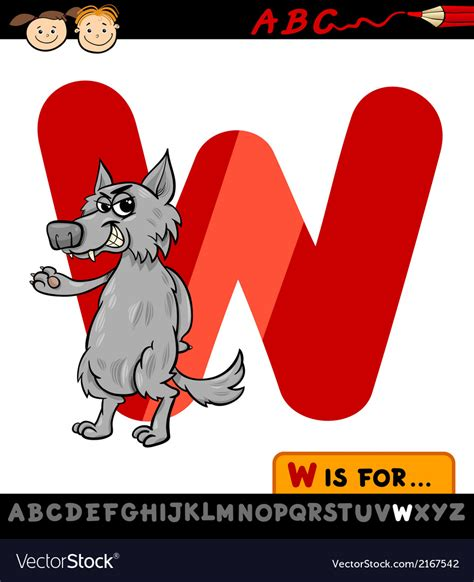 letter w is for walk stock vector image 71024801 letter w with wolf royalty free vector image