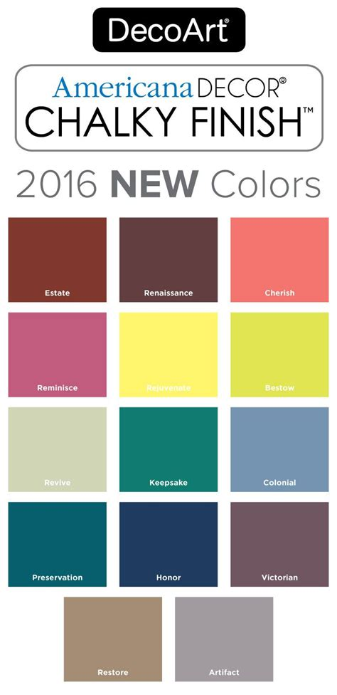 2016 new americana decor chalky finish colors chalky