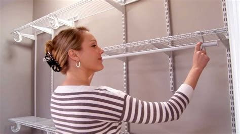 How To Hang Closetmaid Wire Shelving - closetmaid shelftrack installation