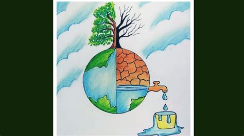 save water save nature drawing  drawing competition