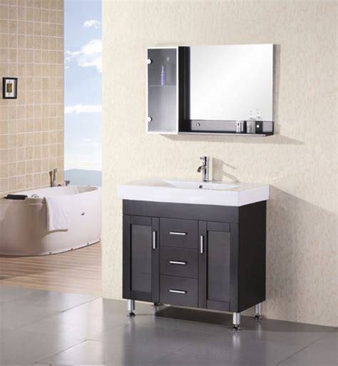 modern single sink bathroom vanity  white