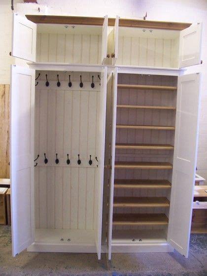 Coat Cupboards by 4 Door Coat Shoe Storage Cupboard With Top