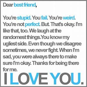 I Love You Best Friend Greeting Card Letter Coloring Pages ...