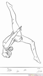 how to draw a gymnast on a beam step by step drawing With cantilever beam