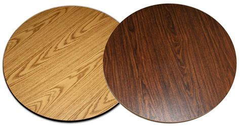 "All About Furniture DT42R Reversible 42"" Round Wood Grain"