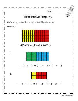 distributive property common core aligned  loida tpt