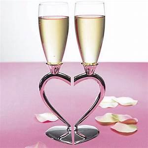 Flûtes à Champagne Originales : personalized engraved wedding toasting heart glasses ~ Teatrodelosmanantiales.com Idées de Décoration