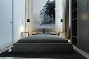 schlafzimmer grau 88 schlafzimmer mit deutlicher prasenz With balkon teppich mit tapete grau schlafzimmer