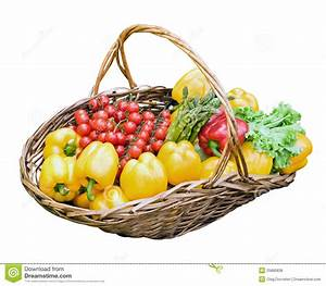 Fresh Vegetables In Basket Royalty Free Stock Photos ...