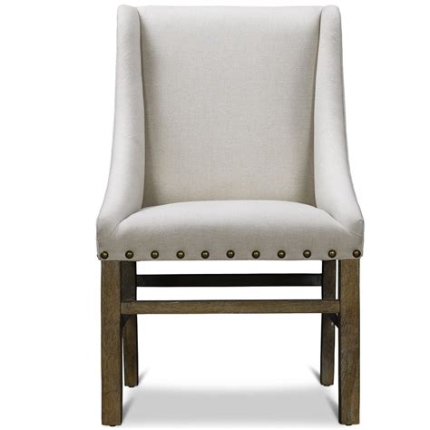 solid wood bathroom white upholstered dining chair displaying infinite