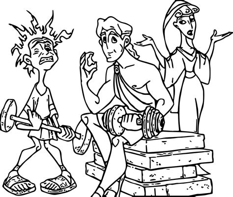 Kleurplaat Hercules by Icharus And Hercules Coloring Pages