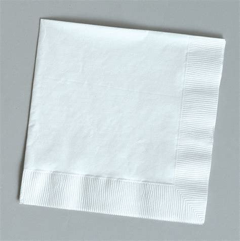100 Plain White Beveragecocktail Napkins For Wedding