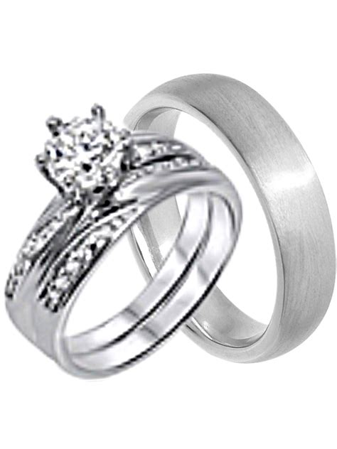 his and hers wedding ring cheap wedding bands for him and walmart