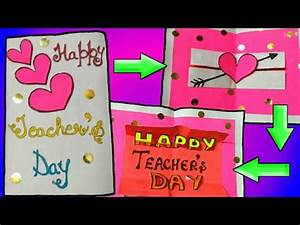 How to make teacher's day card (pop up) - YouTube