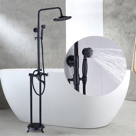 quinn  standing mounted bathroom tub faucet rainfall