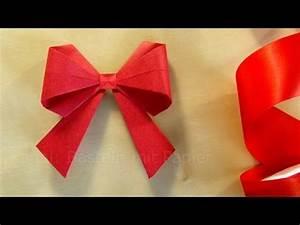 Geschenk Schleife Binden : strik vouwen van papier knutselen met papier strikje maken kersts cadeautjes ~ Orissabook.com Haus und Dekorationen