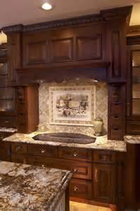 kitchen kitchen backsplash ideas with dark oak cabinets