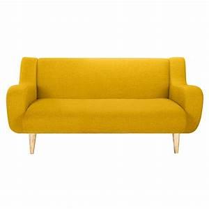 Canape stockholm 2 places jaune decouvrez nos canapes for Tapis jaune avec canapé relax 3 places tissu