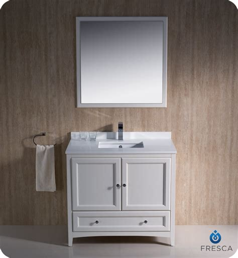 "Fresca Oxford Collection 36"" Antique White Traditional Bathroom Vanity With Top, Sink, Faucet. Bath Landscape. Steampunk Table. Stairway Design. Home Theatre Ideas. Media Room Seating. Outside Lighting Fixtures. Blue And Grey Rug. Small Buffet Cabinet"