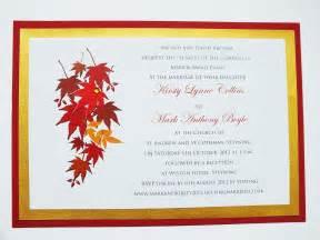 fall themed wedding invitations autumn wedding invitations autumn themed wedding invite leaves