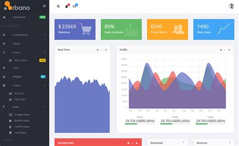 Components In Different Templates Vue Js by Vue Js Free Bootstrap Admin Dashboard Template With
