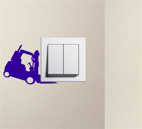 designer forklift light switch sticker wall decal wall stickers store uk shop with