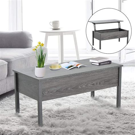 Coffee table with storage is essentially used for so many reasons. Lift Top Storage Coffee Table - Grey | Coffee table desk, Coffee table, Coffee table grey