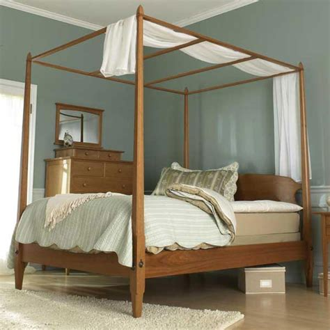 Bedroom Set Plans by Pencil Post Bed Woodworking Plan From Wood Magazine