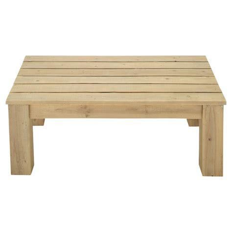 table de jardin en bois table basse de jardin en bois l 100 cm brehat maisons du monde