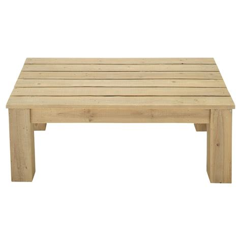 Wooden Garden Coffee Table W 100cm Bréhat  Maisons Du Monde