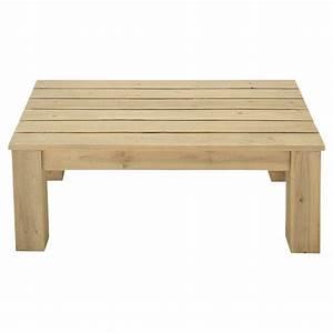 Table Jardin En Bois : table basse de jardin en bois l 100 cm brehat maisons du monde ~ Teatrodelosmanantiales.com Idées de Décoration