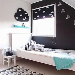 noir et blanc s39invitent dans la chambre d39enfant joli tipi With deco de chambre noir et blanc